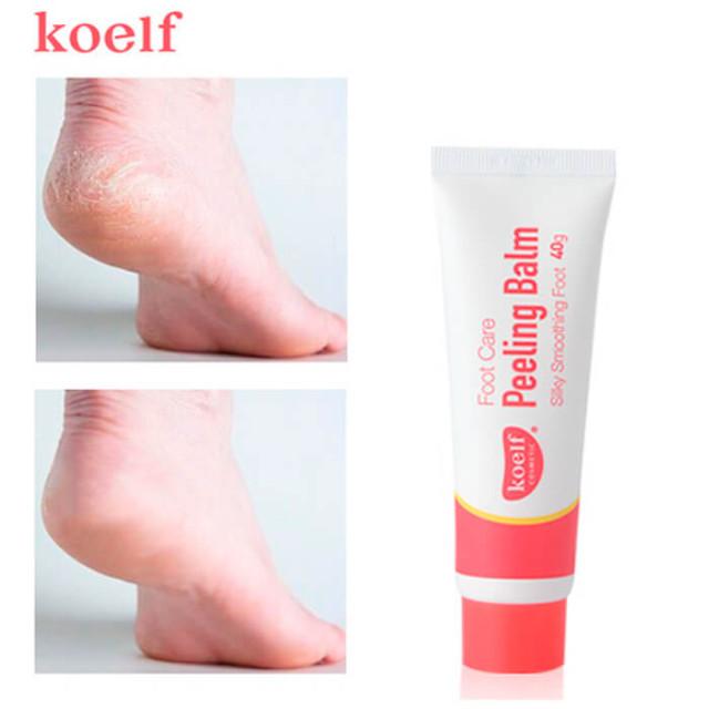 Крем-пилинг для ног Koelf Foot Care Peeling Balm применение