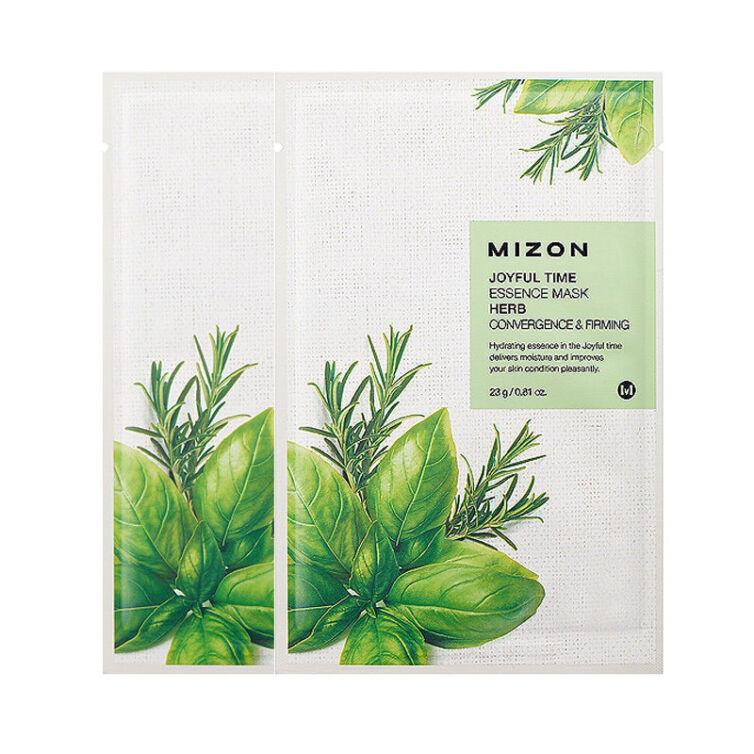 Тканевая маска для лица травяная MIZON