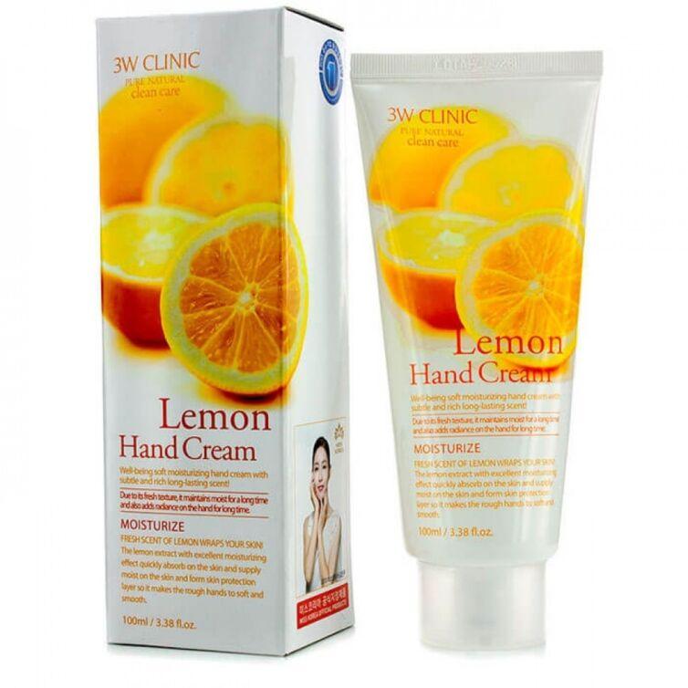 Увлажняющий крем для рук с экстрактом лимона 3W Clinic