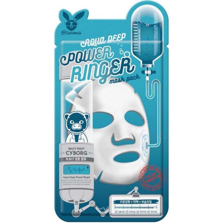 Тканевая маска для лица с гиалуроновой кислотой Elizavecca