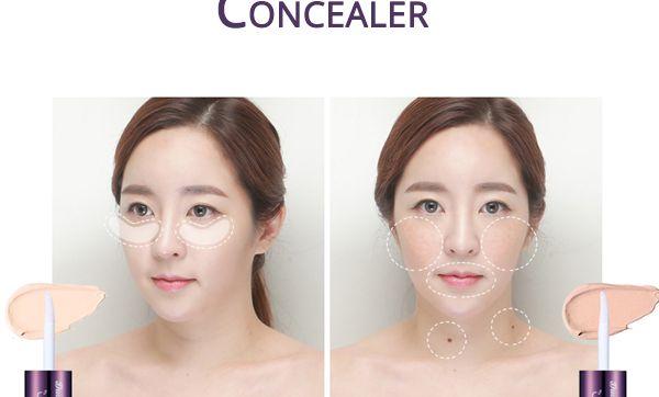 Двустороннее средство для контуринга кожи вокруг глаз (консилер+корректор) Berrisom